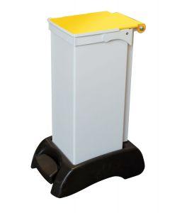 23Ltr Sackholder Plastic Base, Metal Body & Metal Yellow Lid