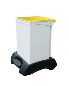 42Ltr Sackholder Plastic Base, Metal Body & Metal Yellow Lid