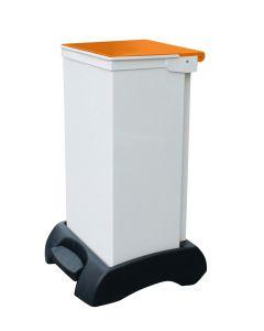 75Ltr Sackholder Plastic Base, Metal Body & Metal Orange Lid