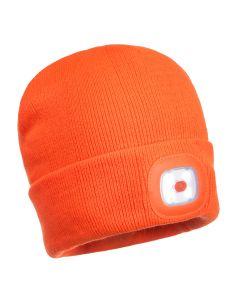 LED Beanie Hat Orange