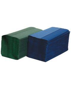 S-Fold Hand Towel, Green 1 ply