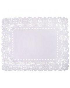 Lace Tray 47cm x 32cm, White