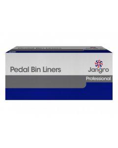 "Jangro Pedal Bin Liners (Heavy Duty) 11"" x 19"" x 19"" White"